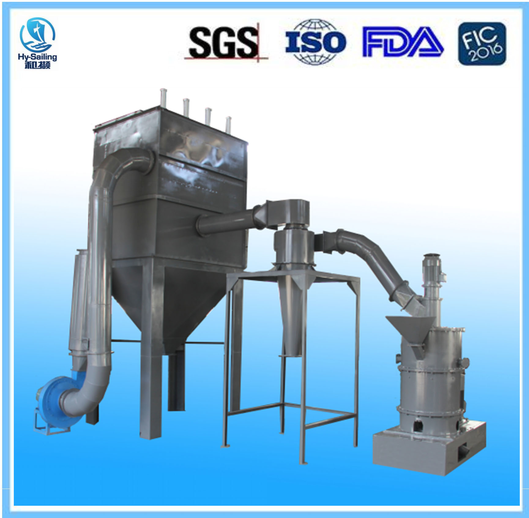 Narrow Particle size High purity H type Impact grinding machine Special for Ash Calcium Powder