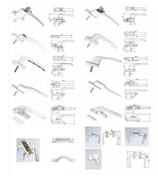 handle hinge locks for window and door