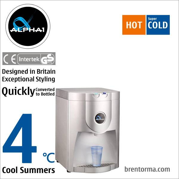 ALPHA 1 British Design Inspired Point-Of-Use or POU Tabletop Watercooler