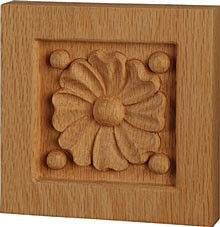 Dogwood Flower Rosette, Solid wood carving, wood rosette and Ornament, Cabinet Decorative