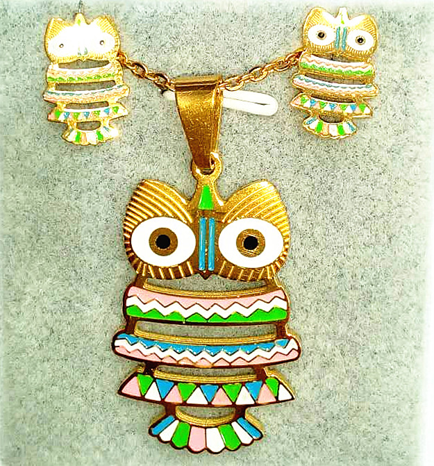 beauty and the beast jewelry Manufactory price New Coming Design Cute Owl Shape Necklace earring