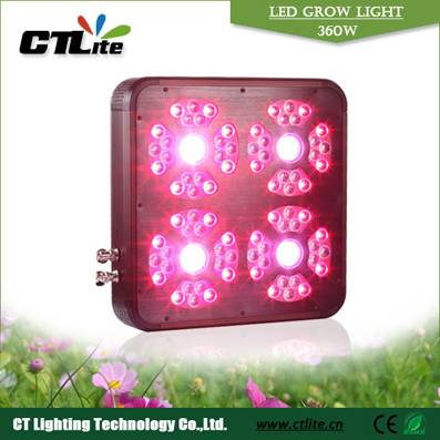 360w LED Grow light with full spectrum and silent fan