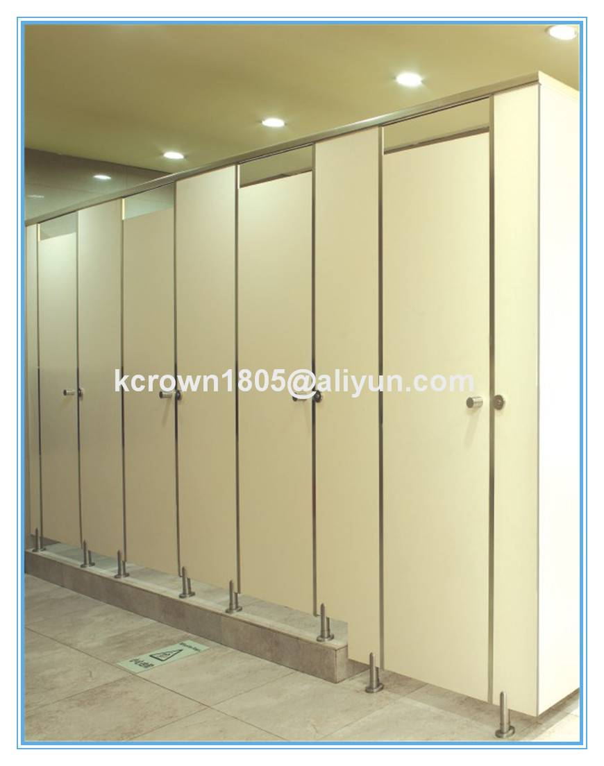 High pressure laminate toilet cubicle partition