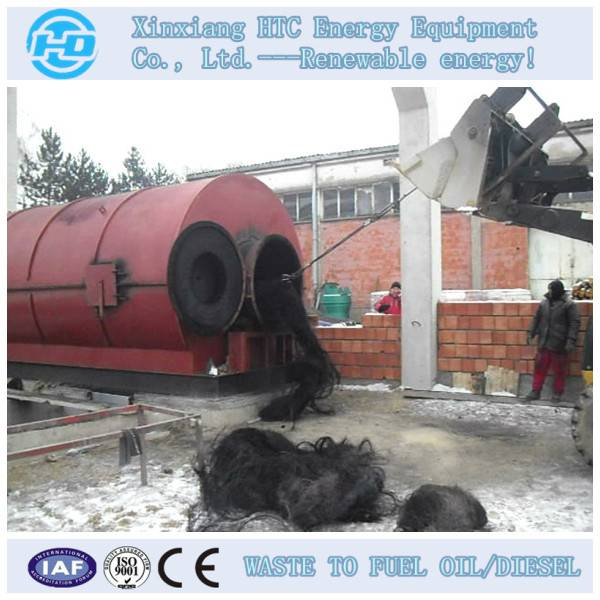 rubber to oil pyrolysis machinery