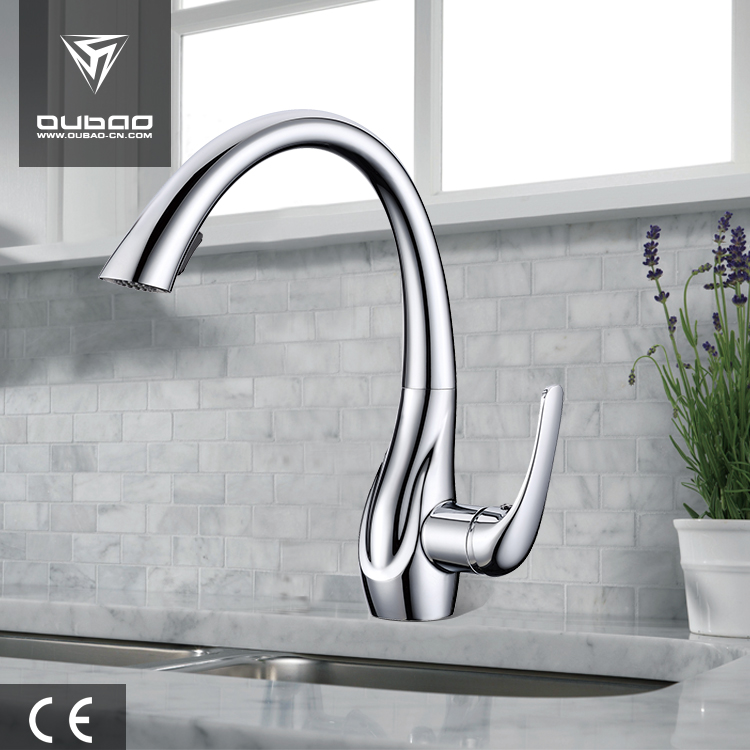 Unique artistic faucet with pull out type 360 rotation degree kitchen faucets