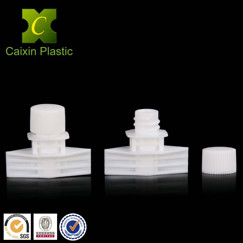 5.5mm plastic spout cap for face cream sachet packaging