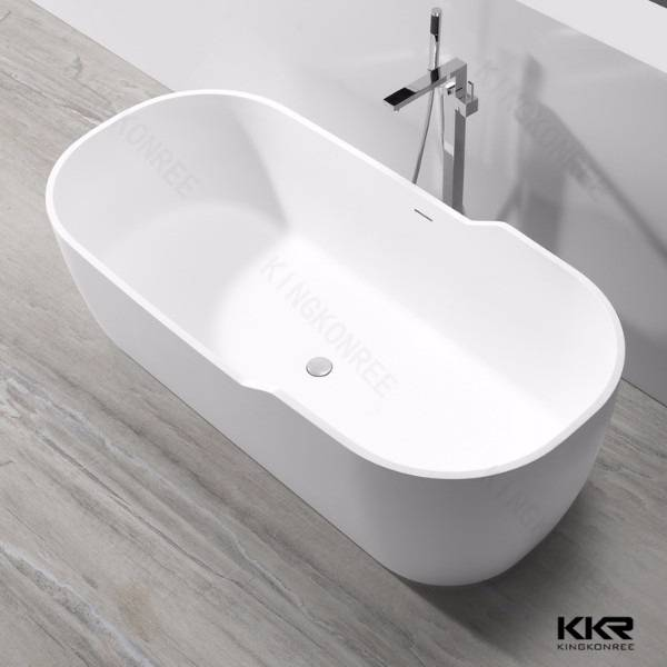 Resin stone solid surface freestanding bathtub