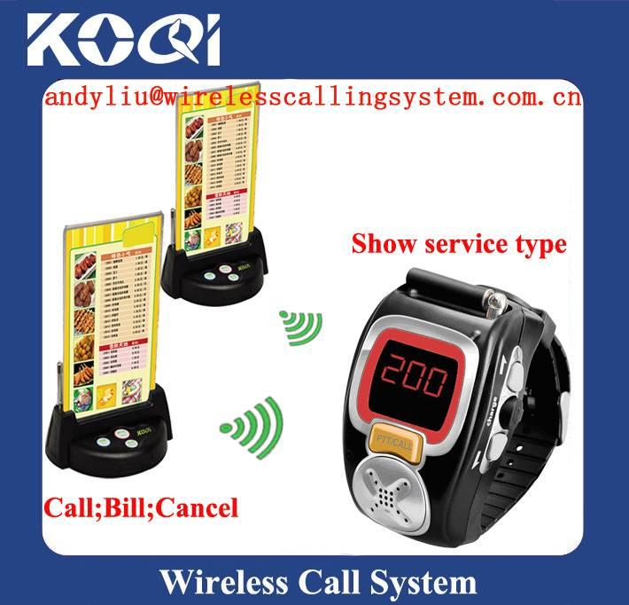Restaurant guest Calling waiter System K-200C+K-G3
