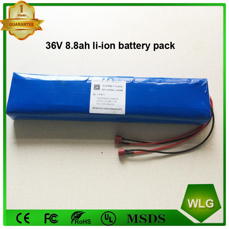 10S4P 36V 8.8ah Li-ion 18650 battery Pack for e-bike Electric scooter Skateboard