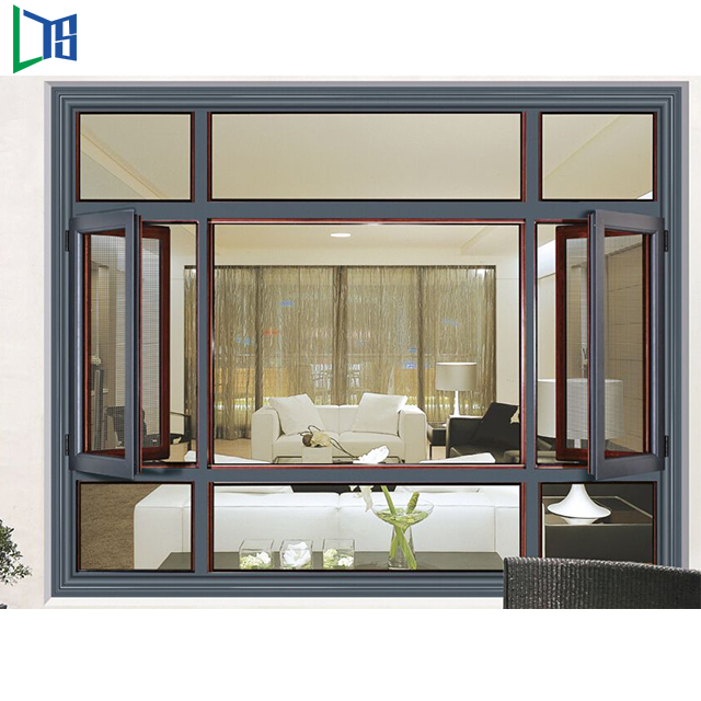 New Modern Waterproof Aluminium Casement Windows With