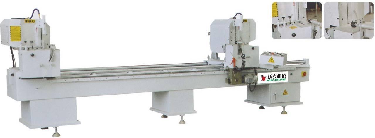 Double head cutting saw for aluminum/PVC profile