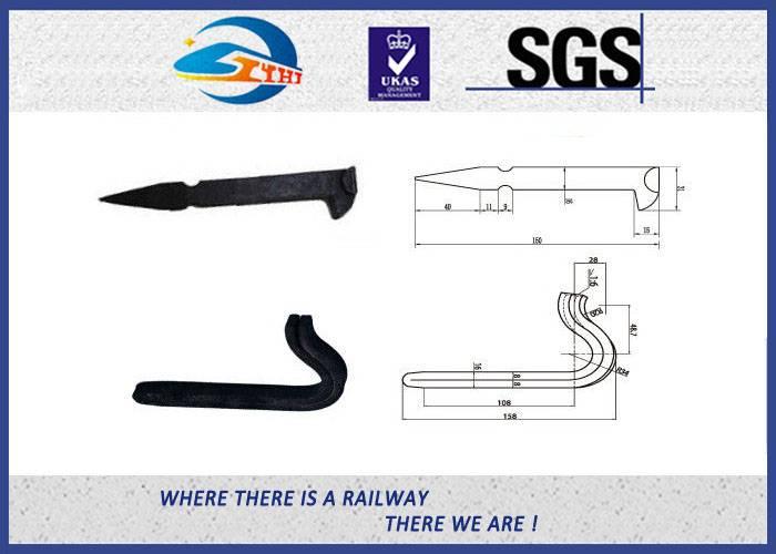 ZhongYue Special Railroad Track Spikes Rail Fastening Grade 4.8 Black Lock Spike