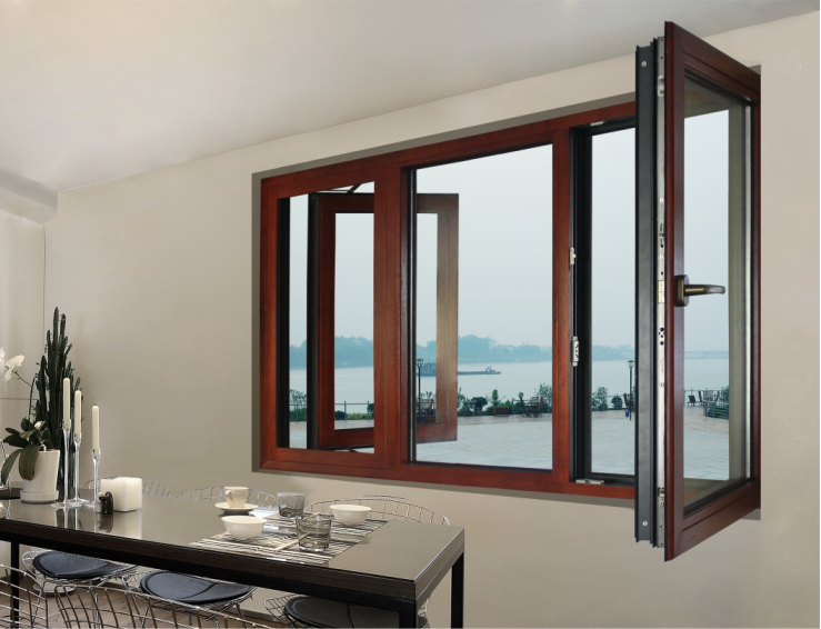 2017 new type Aluminium casement windows