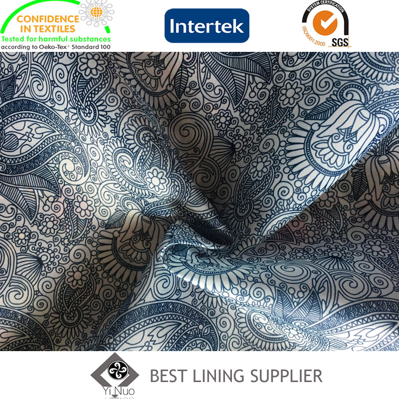 Polyester Mens Suit Jacket Coat Printed Lining Fabric Supplier