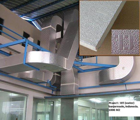 PU Pre-Insulated Aluminum Air Duct Panel
