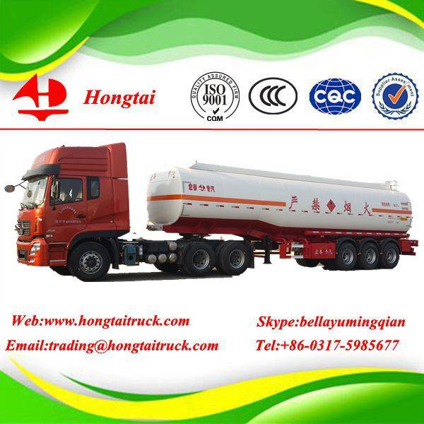 3 axle stainless steel  fuel tanker semi trailer