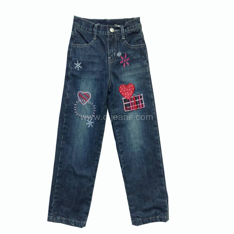 Denim Jeans Children's Denim Trousers, Girls' Jeans Kids' Jeans Made of Denim Fabric