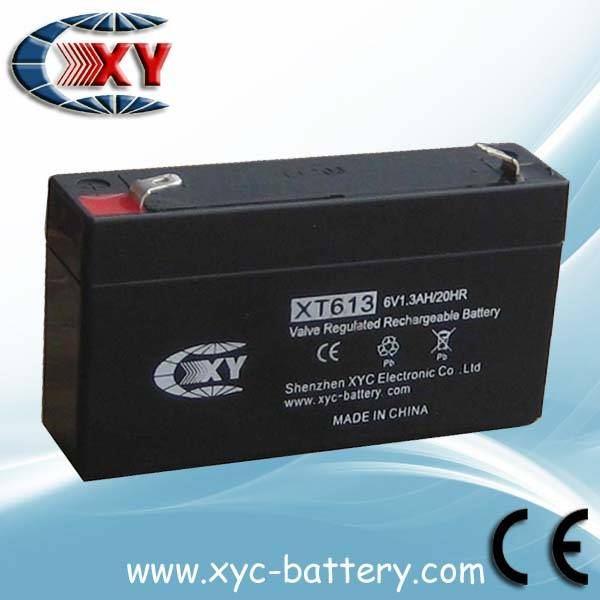 Valve regulated lead acid battery  6v1.3ah