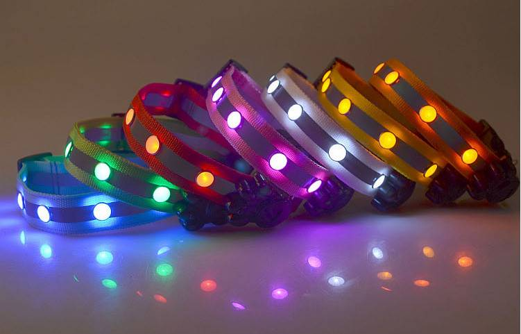 rechargable pet collar flashing Led Dog Collar