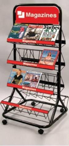 Magzine rack for bookstore cheap price