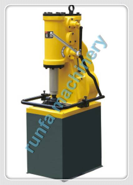 Air power forging hammer C41-6KG single with base plate