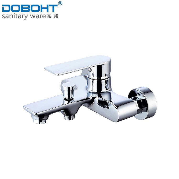 hot and cold brass single handle chrome bathroom shower faucet mixer