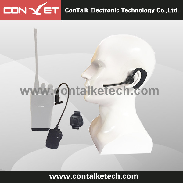 ContalkeTech Walkie Talkie Two Way Rdio Wireless Bluetooth Earpiece For Motorola Kenwood Baofeng