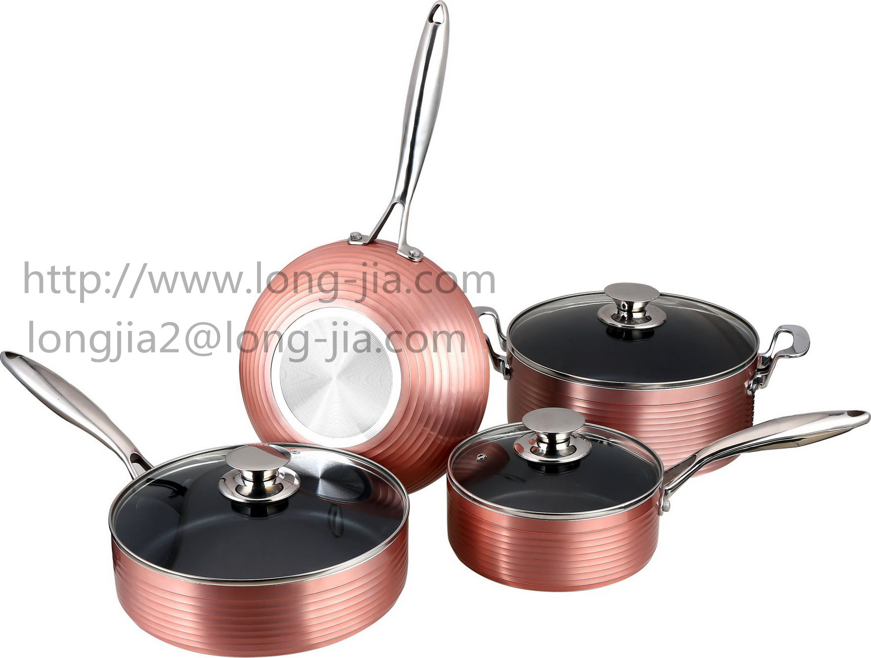LJ Forge Aluminum non-stick cookware set frying pan -Factory