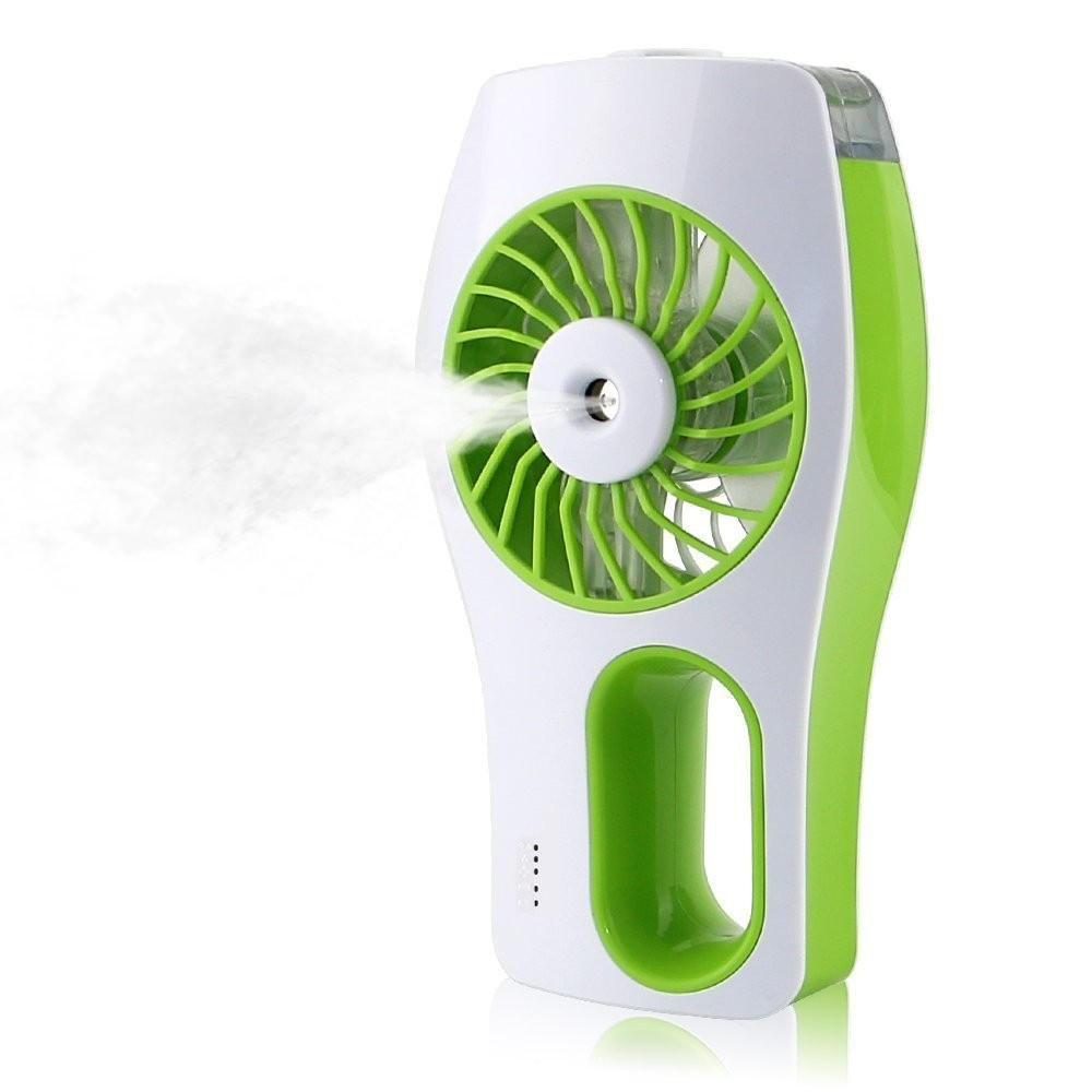 2019 Newest USB mini humidifier electric water spray rechargeable electric fan water cooler industri