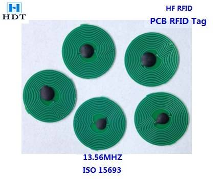 Diameter18mm ISO15693 Icodeslix HF PCB Tag (HDT)