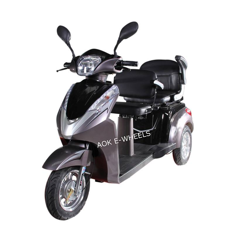 500W/700W Motor Electric Mobility Scooter with Double Deluxe Saddles