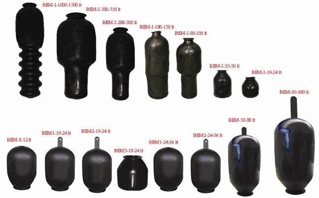 Epdm-Butyl-Latex-Natural Rubber Hydrophore And Pressure Tank