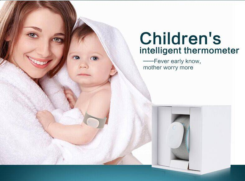 Wearable Electronic Smart Baby Monitor Thermometer For Android iOS