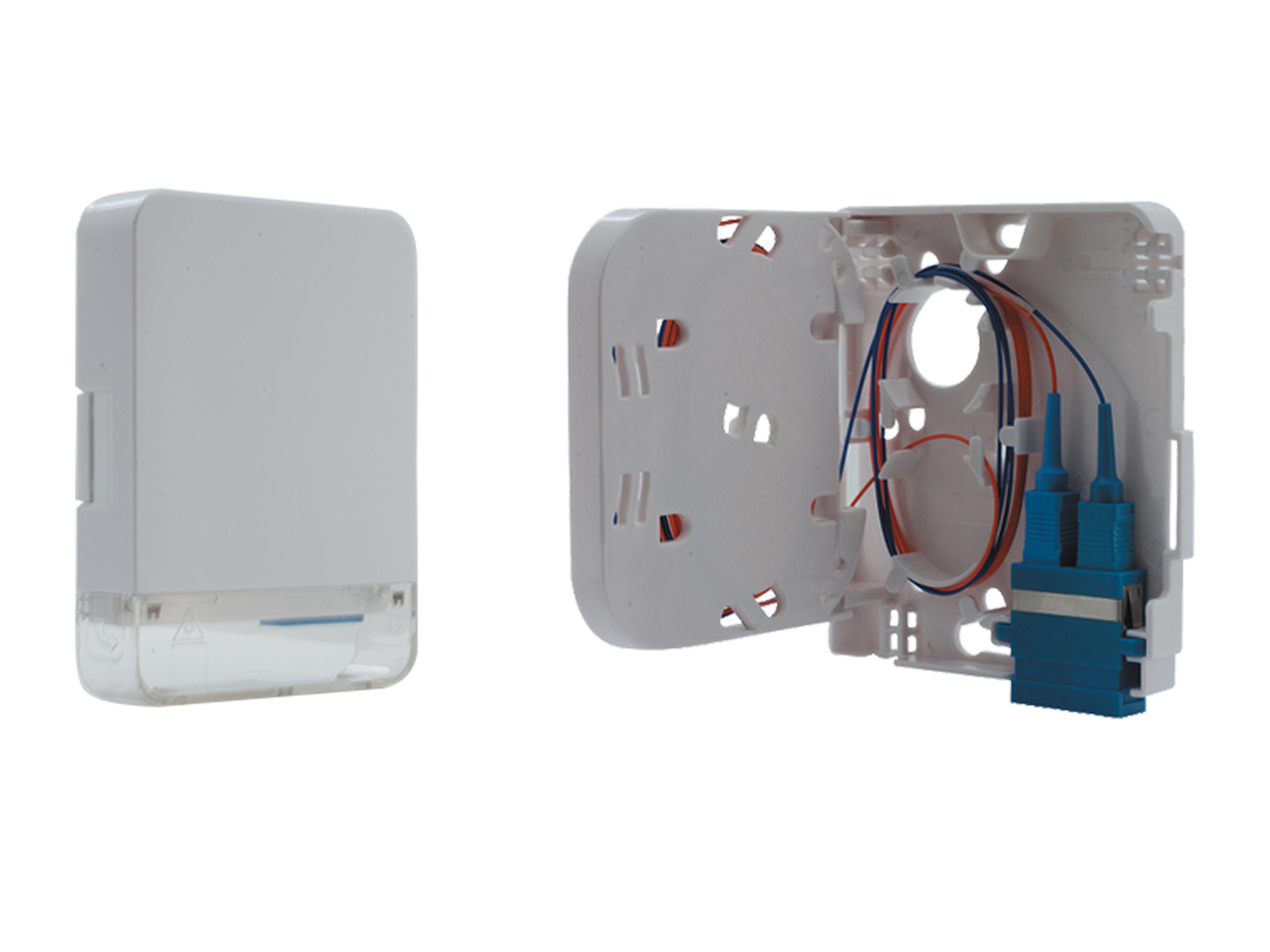 2 ports Mini FTTH terminal box