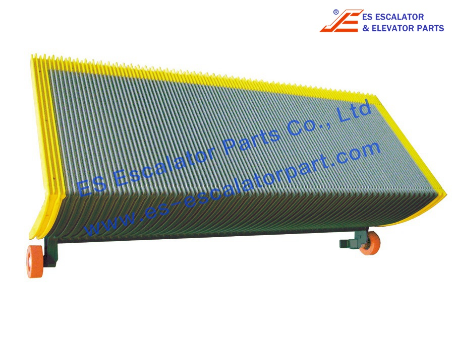 Schinlder Step SWE/9300, 468549 V2.0, W/3-Side demarcation, Grey Painted, 1000/800mm