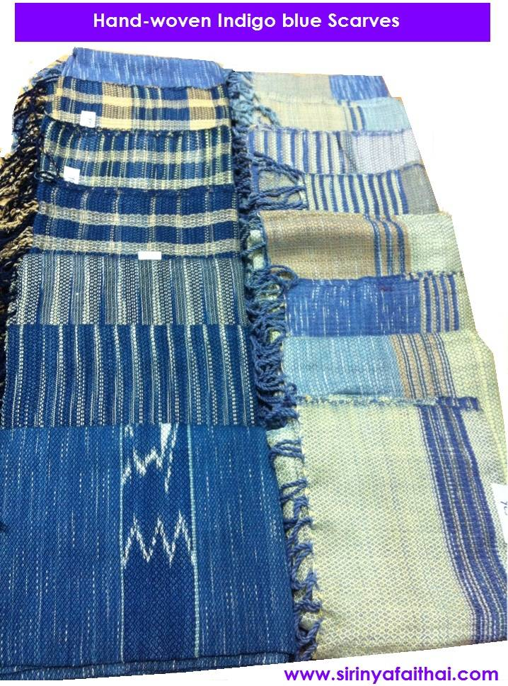 Indigo Blue Cotton Scarves