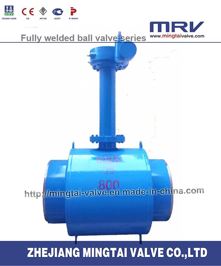 Gas Exhaust Underground Fully Welded Ball Valve