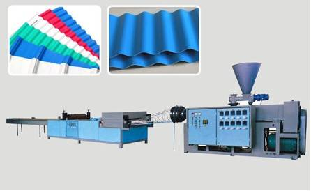 PVC/PP/ABS/PE corrugated plastic roof sheet machine