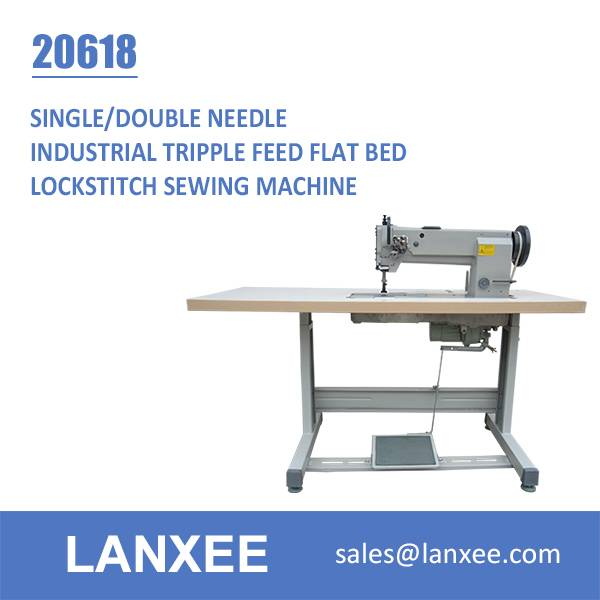 Lanxee 20618 Single/Double Needle Walking Foot Industrial Sewing Machine