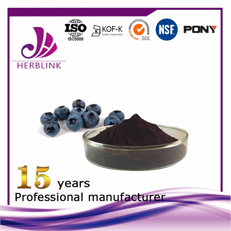 Bilberry extract Anthocyanins 25% UV