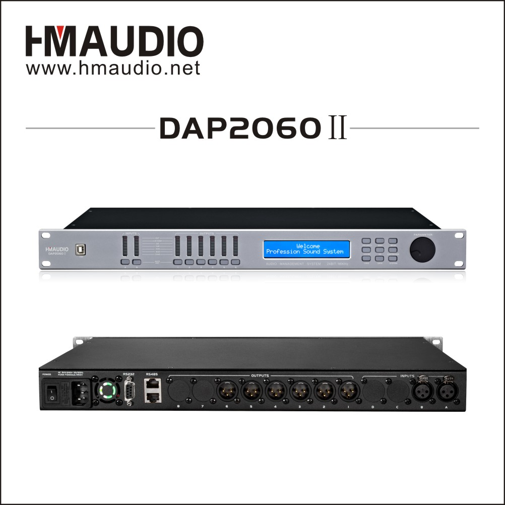 Loudspeaker management for outdoor performances DAP2060II