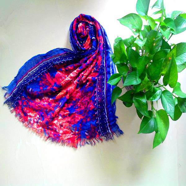 Fashion Long Cotton Voile Floral Shawl Scarf Wrap Stole For Girls
