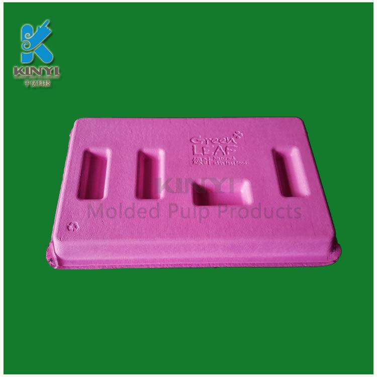 Eco-friendly colored cosmetic packaging tray, packaging box