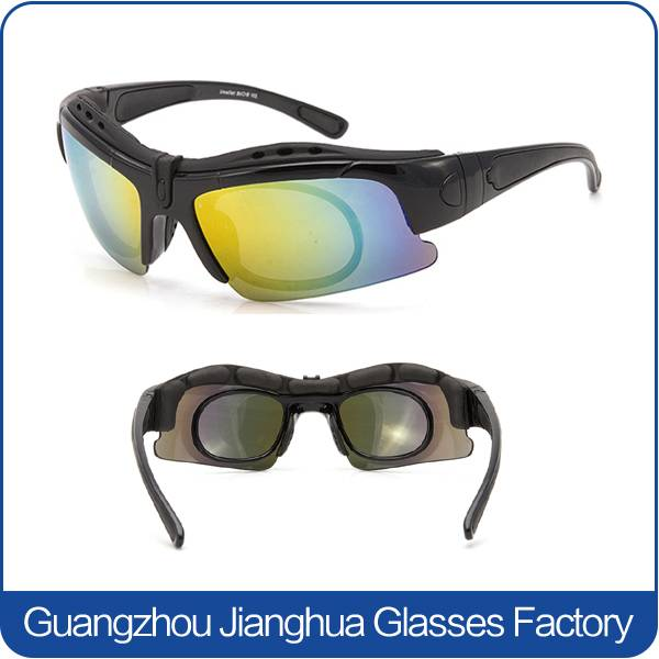 anti glare black frame multi sports outdoor cycling running myopia sunglasses