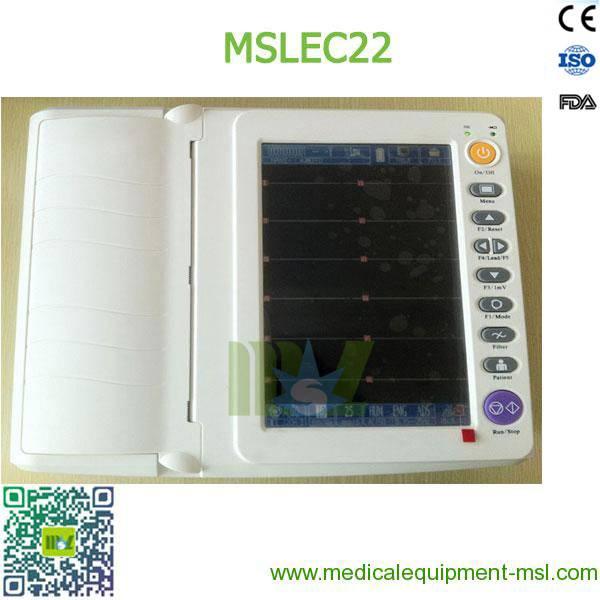 Portable 12-lead ECG recorders / Portable twelve lead ecg MSLEC22 for sale