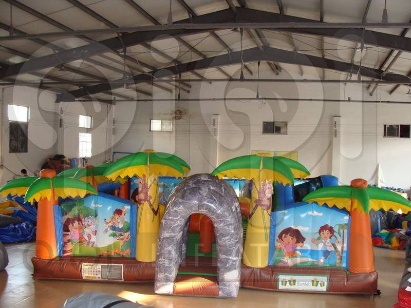 Inflatable Dora N Diego Learning Adventure Castle