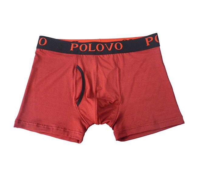 Jacquard waistband breathable men's boxers with pouch