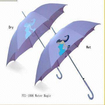 Special umbrella color changing on wet