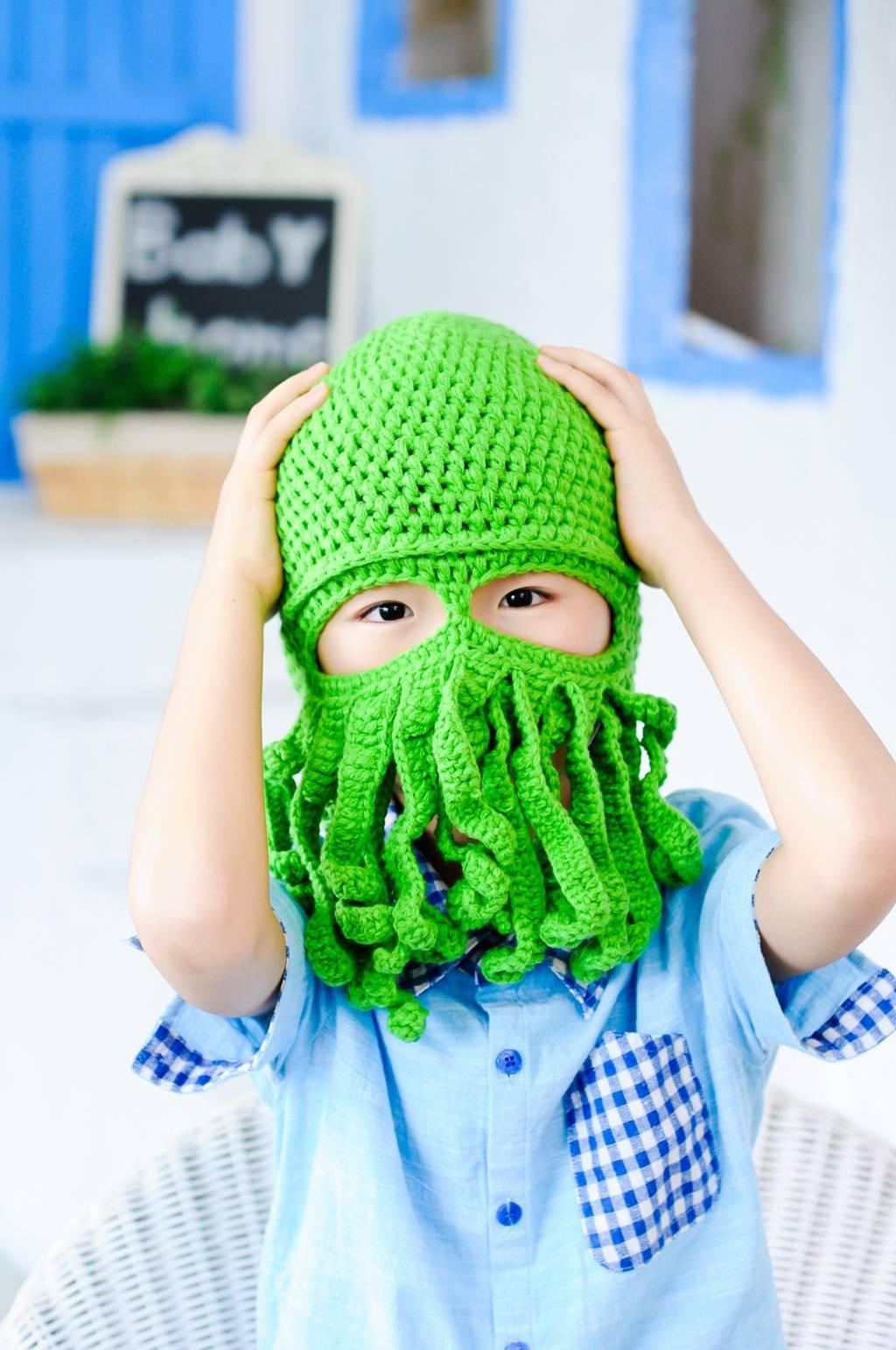 crochet funny hats for children
