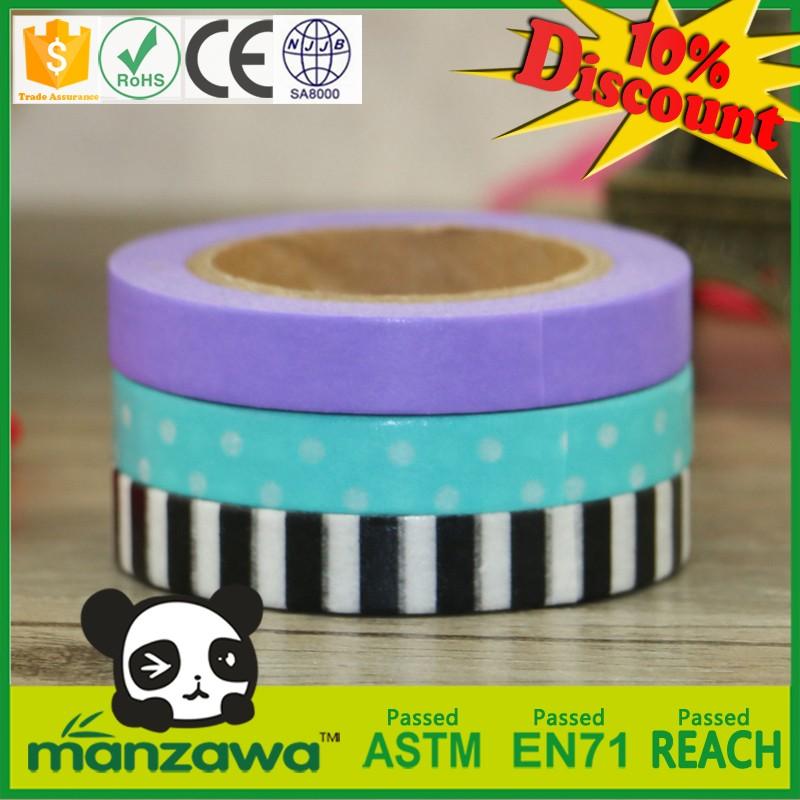 Manzawa colorful custom make washi tape,custom printed washi tape